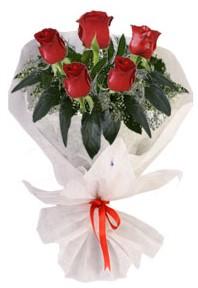 5 adet kirmizi gül buketi  Gölbaşı çiçek yolla online çiçekçi , çiçek siparişi