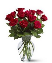 Gölbaşı çiçek gönder cicekciler , cicek siparisi  cam yada mika vazoda 10 kirmizi gül