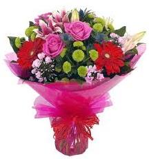 Karışık mevsim çiçekleri demeti  Gölbaşı ankara çiçek gönderme sitemiz güvenlidir