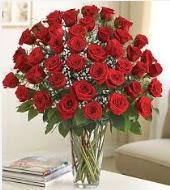 Cam vazoda 51 kırmızı gül süper indirimde  Gölbaşı çiçekçi telefonları