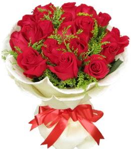 19 adet kırmızı gülden buket tanzimi  Çiçekçi Gölbaşı çiçekçi mağazası
