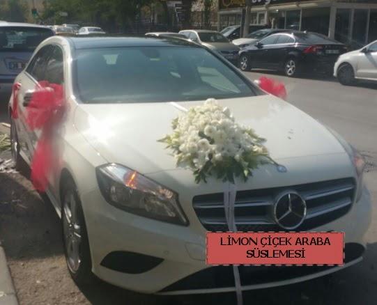 Araba süslemesi gelin arabası süsleme modeli  Ankara Gölbaşı hediye sevgilime hediye çiçek
