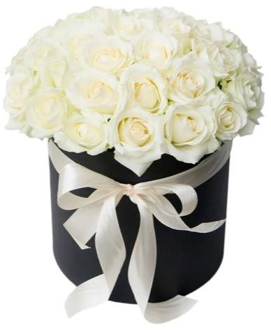 41 adet özel kutuda beyaz gül  Ankara Gölbaşı hediye sevgilime hediye çiçek  süper görüntü