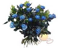Gölbaşı çiçek online çiçek siparişi  11 adet mavi gül özel tanzim