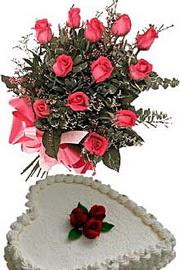 Gölbaşı ankara çiçek servisi , çiçekçi adresleri  Yas pasta ve özel gül buketi