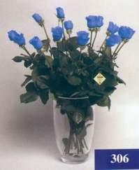 Ankara Gölbaşındaki çiçekçiler ankara çiçek satışı  mika vazo yada cam Vazoda 11 adet mavi güller