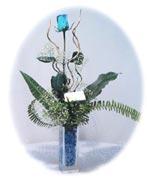 Ankara Gölbaşı hediye çiçek yolla  Kalite mika yada cam vazo mavi gül tanzim