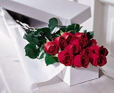 Ankara Gölbaşı hediye sevgilime hediye çiçek  özel kutuda 12 adet gül
