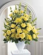 Gölbaşı çiçekçi güvenli kaliteli hızlı çiçek  sari güllerden sebboy tanzim çiçek siparisi