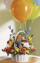 Ankara çiçekçi Gölbaşı İnternetten çiçek siparişi  Mevsim çiçekleri sepeti balon hediye