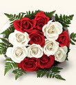Gölbaşı çiçek online çiçek siparişi  10 adet kirmizi beyaz güller - anneler günü için ideal seçimdir -