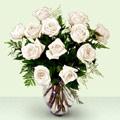 Gölbaşına çiçek , çiçekçi , çiçekçilik  beyaz güller cam yada mika vazo