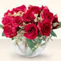Ankara Gölbaşı hediye çiçek yolla  mika yada cam içerisinde 10 gül - sevenler için ideal seçim -