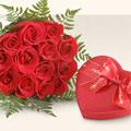 Çiçek yolla Gölbaşı internetten çiçek satışı  10 adet gül ve kalp çikolata