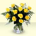 Gölbaşı çiçek siparişi yurtiçi ve yurtdışı çiçek siparişi  9 adet sari gül mika ve cam vazoda