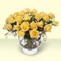 Gölbaşı anneler günü çiçek yolla  11 adet sari gül cam yada mika vazo içinde