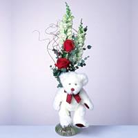 2 adet gül ve panda özel  Gölbaşı çiçek kaliteli taze ve ucuz çiçekler