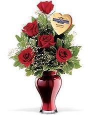 5 adet gül ve cam yada mika vazo özel  Gölbaşı anneler günü çiçek yolla