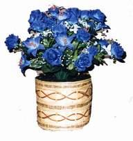 yapay mavi çiçek sepeti  Ankara Gölbaşı çiçek gönderme