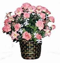yapay karisik çiçek sepeti  Ankara Gölbaşı hediye çiçek yolla