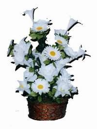 yapay karisik çiçek sepeti  Ankara çiçekçi Gölbaşı İnternetten çiçek siparişi