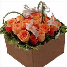 kare sandikta 11 gülllerden   Gölbaşı çiçek kaliteli taze ve ucuz çiçekler