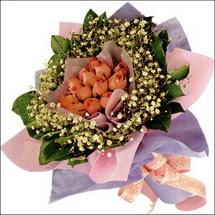 11  adet  gül ve   elyaflar   Gölbaşı çiçek kaliteli taze ve ucuz çiçekler
