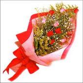 12 adet renkli  gül buketi   Gölbaşı çiçek kaliteli taze ve ucuz çiçekler