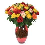 51 adet gül ve kaliteli vazo   Gölbaşı çiçek gönder cicekciler , cicek siparisi