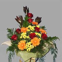 karisik güllerden buketlik   Ankara Gölbaşı 14 şubat sevgililer günü çiçek