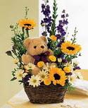karisik aranjman ve ayicik   Ankara Gölbaşı 14 şubat sevgililer günü çiçek