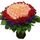 71 adet renkli gül buketi   Gölbaşı ankara çiçek servisi , çiçekçi adresleri
