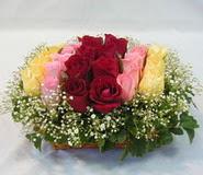 15 adet reprenkli gül sepeti   Ankara Gölbaşı çiçekçi uluslararası çiçek gönderme