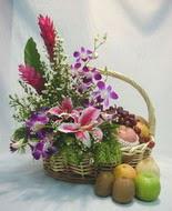 orkide kazablanka ve sepet  Ankara Gölbaşı çiçekçi uluslararası çiçek gönderme