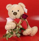 kalp oyuncak ve gül üçgeni   Ankara Gölbaşı çiçekçi uluslararası çiçek gönderme
