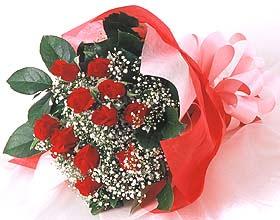 12 adet kirmizi gül buketi  Gölbaşı Ankara çiçek yolla