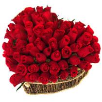 Gölbaşı Ankara çiçek yolla  büyük sepet içerisinde sevgi biçimi