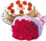 yaspasta ve 10 adet gül  Gölbaşı çiçek siparişi yurtiçi ve yurtdışı çiçek siparişi