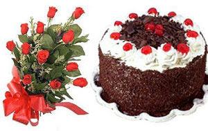 Gölbaşı çiçek siparişi yurtiçi ve yurtdışı çiçek siparişi  12 ADET KIRMIZI GÜL BUKET VE YASPASTA