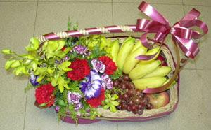 Gölbaşı çiçek siparişi yurtiçi ve yurtdışı çiçek siparişi  SEPET IÇERISINDE MEVSIM MEYVALARI