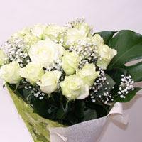 ankara Gölbaşı çiçek mağazası , çiçekçi adresleri  11 adet sade beyaz gül buketi