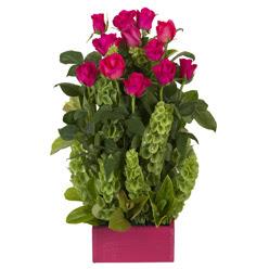 12 adet kirmizi gül aranjmani  Gölbaşı çiçekçiler  çiçek siparişi sitesi