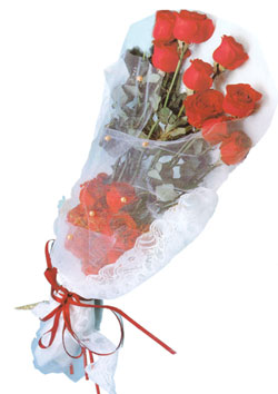 11 adet kirmizi güller buket tanzimi   Gölbaşı çiçekçi güvenli kaliteli hızlı çiçek