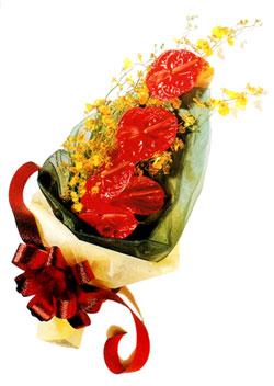 özel 5 adet antorium buketi   Gölbaşı çiçek gönder cicekciler , cicek siparisi