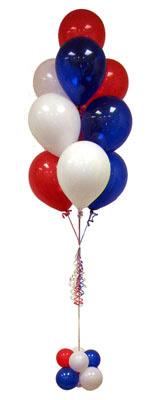 Sevdiklerinize 17 adet uçan balon demeti yollayin.    Gölbaşı çiçek online çiçek siparişi