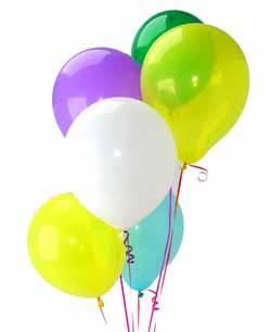 Ankaradaki çiçekçiler Gölbaşı cicek , cicekci  Sevdiklerinize 17 adet uçan balon demeti yollayin.