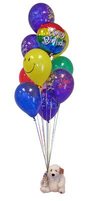 Gölbaşı anneler günü çiçek yolla  Sevdiklerinize 17 adet uçan balon demeti yollayin.