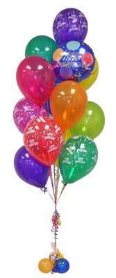 Ankara Gölbaşı hediye sevgilime hediye çiçek  Sevdiklerinize 17 adet uçan balon demeti yollayin.