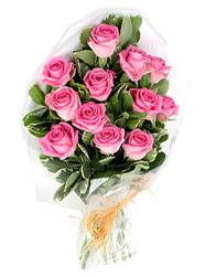 Ankara Gölbaşı internetten çiçek siparişi  12 li pembe gül buketi.