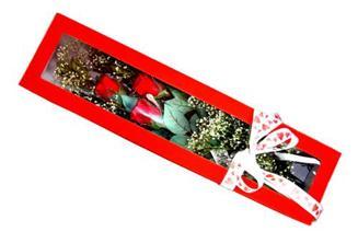 ankara Gölbaşı çiçek mağazası , çiçekçi adresleri  Kutuda 3 adet gül